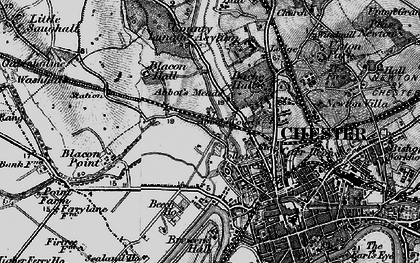 Old map of Abbot's Meads in 1896