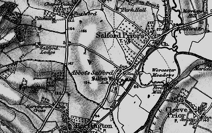 Old map of Abbot's Salford in 1898