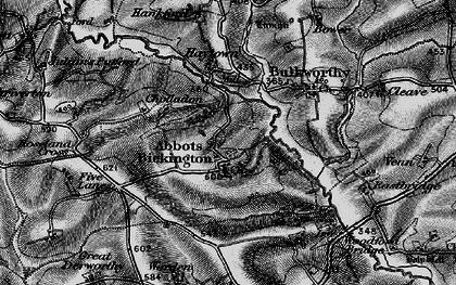 Old map of Abbots Bickington in 1895