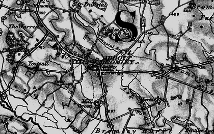Old map of Abbots Bromley in 1898