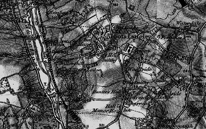 Old map of Abbots Langley in 1896
