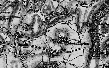 Old map of Abbots Morton in 1898