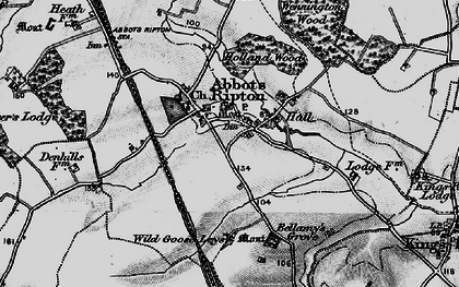 Old map of Wild Goose Leys in 1898