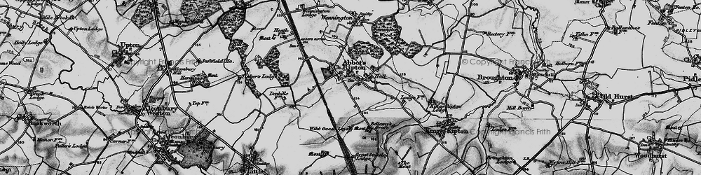 Old map of Abbots Ripton in 1898