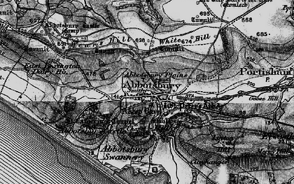 Old map of Abbotsbury Plains in 1897