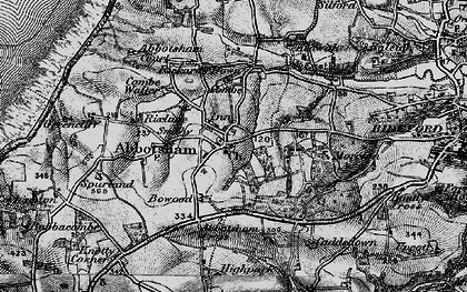 Old map of Abbotsham Cross in 1895
