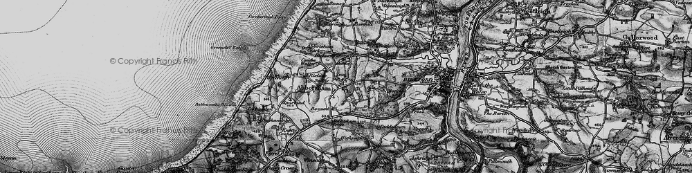 Old map of Abbotsham Cross in 1895