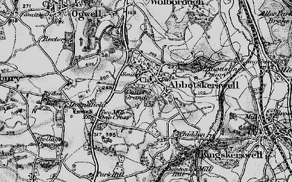 Old map of Abbotskerswell in 1898