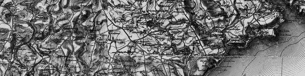 Old map of Abbotsleigh in 1897