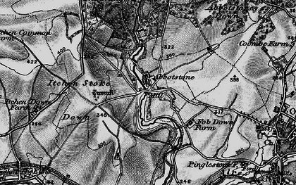 Old map of Abbotstone in 1895