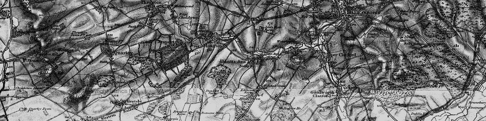 Old map of Abbotts Ann in 1895