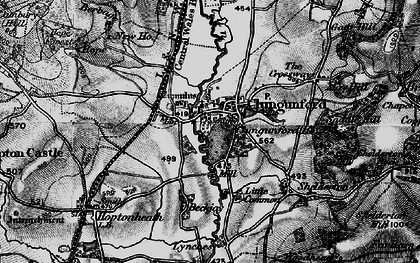 Old map of Abcott in 1899