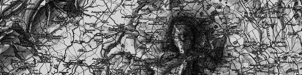 Old map of Abdon in 1899