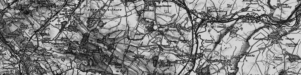 Old map of Abdy in 1896