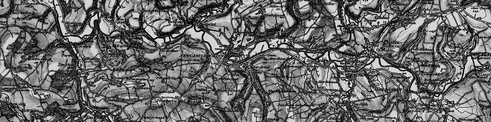 Old map of Aber Arad in 1898