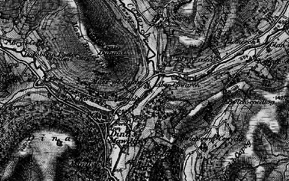 Old map of Afon Cywarch in 1899