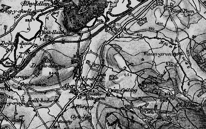 Old map of Abercwm in 1898