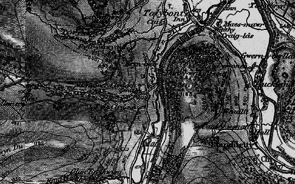 Old map of Aber Village in 1897
