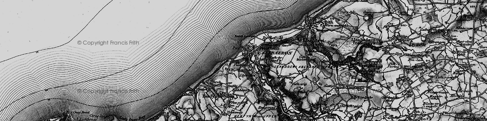 Old map of Aberaeron in 1898