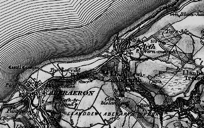 Old map of Aberarth in 1898