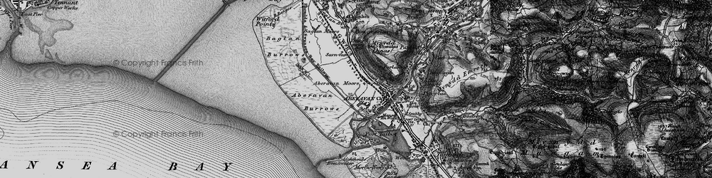 Old map of Aberavon in 1897