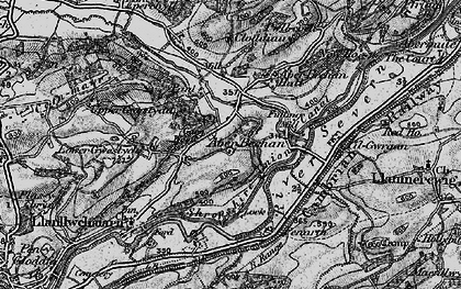 Old map of Aberbechan Dike in 1899