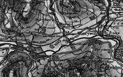 Old map of Aberbran in 1898