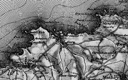 Old map of Abercastle in 1898