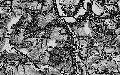 Old map of Afon Cych in 1898