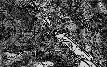 Old map of Aberdare in 1898