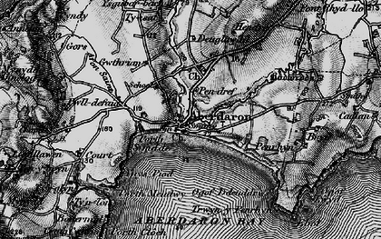 Old map of Ynys Gwylan-bâch in 1898