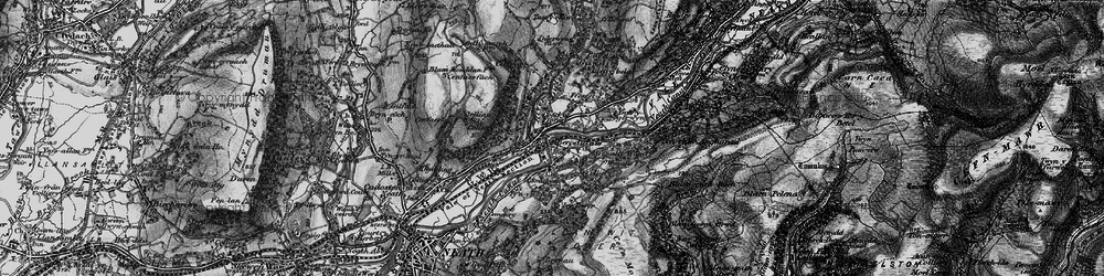 Old map of Aberdulais in 1898