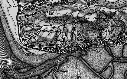 Old map of Aberdyfi in 1899