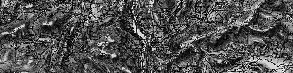 Old map of Aberedw in 1898
