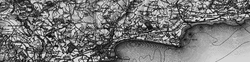 Old map of Abererch in 1899