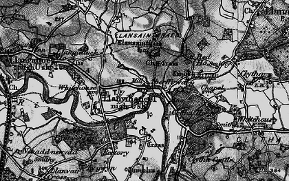 Old map of Aberffrwd in 1896