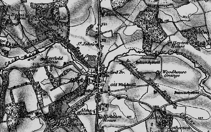 Old map of Aberford in 1898
