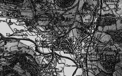Old map of Abergavenny in 1896