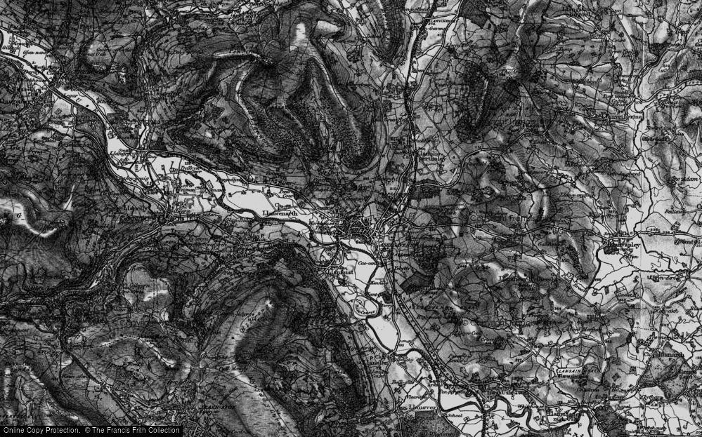 Old Map of Abergavenny/Y Fenni, 1896 in 1896