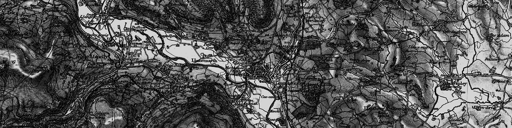 Old map of Abergavenny/Y Fenni in 1896