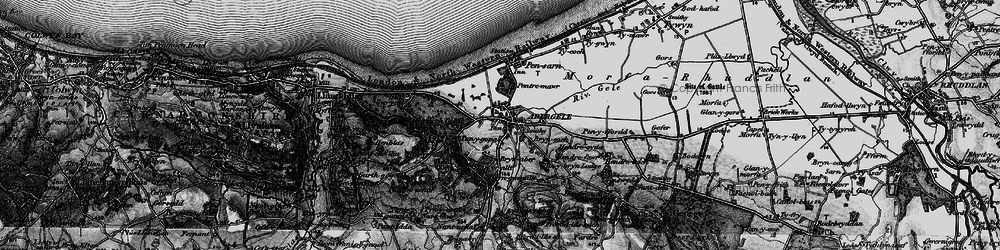 Old map of Abergele in 1898