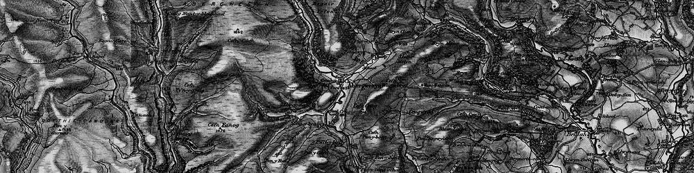 Old map of Afon Gwesyn in 1898