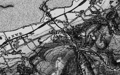 Old map of Abergwyngregyn in 1899