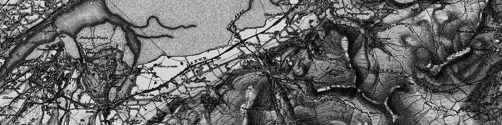 Old map of Afon Rhaeadr-fawr in 1899