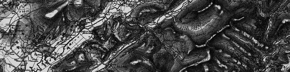 Old map of Abergynolwyn in 1899