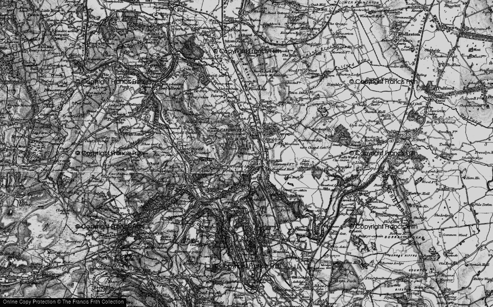 Old Map of Abermorddu, 1897 in 1897