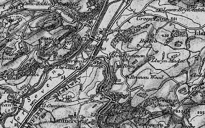 Old map of Abermule in 1899