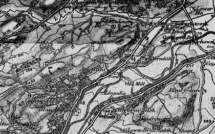 Old map of Abernant in 1899