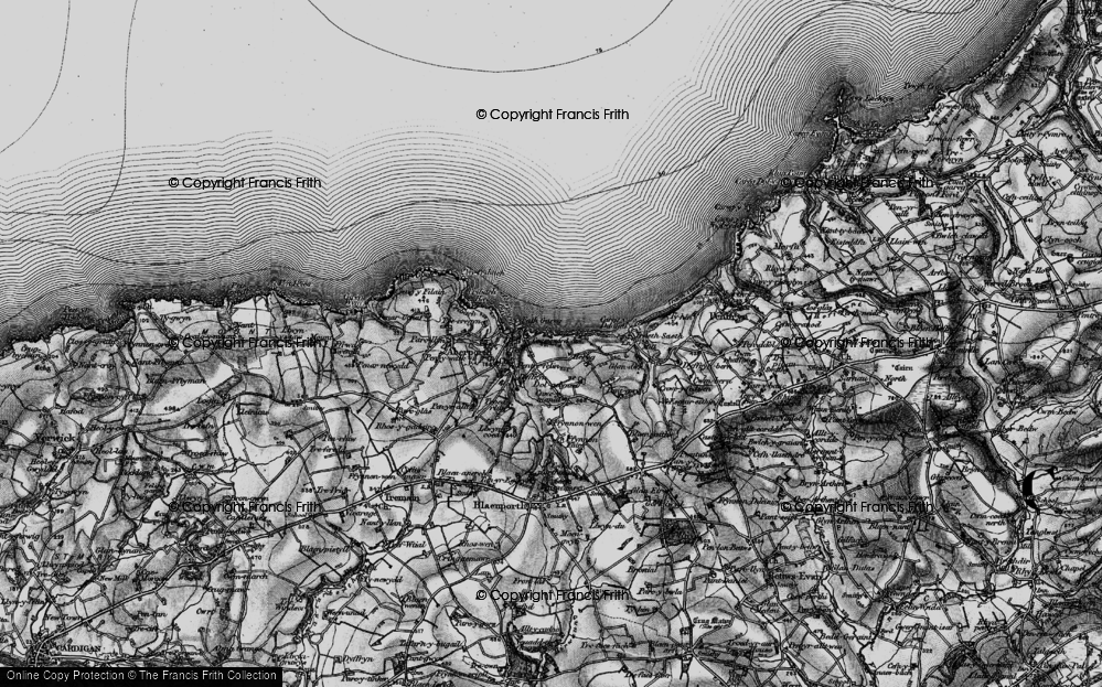 Old Map of Aberporth, 1898 in 1898