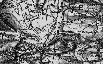 Old map of Aberthin in 1897